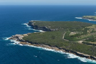 An aerial view of the Malabar Headland National Park.