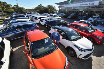 Brett Davies from Nunawading Toyota says  many customers wore gloves and face masks in April.