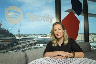 Mikaela Lancaster, managing director of Spotify Australia, is leading a push into podcasts.