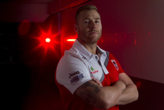 Trent Merrin is back in red and white.
