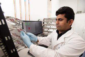 Associate Professor Deepak Dubal in the lab.
