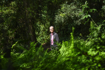Tim Entwisle in the Botanic Gardens on Thursday.