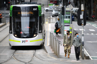 Melbourne's peak-hour public transport would need to shed seven out of every eight passengers to ensure social distancing.
