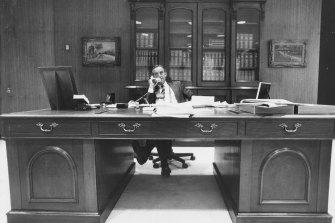 The premier in his office, September 1988.