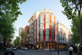 Renders of the proposed mixed-use development at18-32A Darlinghurst Road, Potts Point, by Iris Capital and designed byTonkin Zulaikha Greer Architects and Panov Scott.
