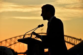 French President Emmanuel Macron in Sydney in 2018.