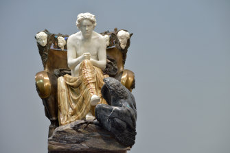 Kitsch's main distinction is obviousness. To look at Max Klinger's sculpture is to see Beethoven as a god-like genius.
