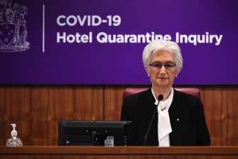 Jennifer Coate is chair of the hotel quarantine inquiry.