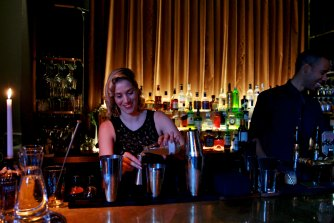 There is an extensive cocktail list at the bar, including several types of negroni, sour, old-fashioned and spritz.