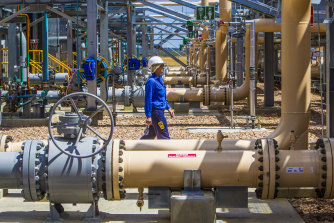 Santos gas plant in Queensland: The company says the approval for the Narrabri gasfield will open the way for lower gas prices but some analysts have questioned the likely production costs.