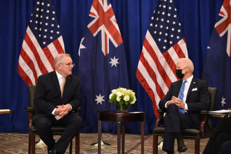 Prime Minister Scott Morrison and US President Joe Biden held their first one-on-one meeting in New York.