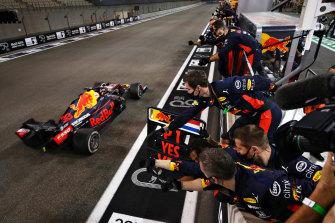 Max Verstappen wins the Abu Dhabi Grand Prix for Red Bull on Sunday.