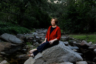 Inspired by NSW's Southern Tablelands bush: Jackie French in her Araluen Valley garden in 2013.