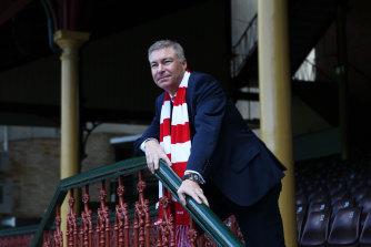Sydney Swans chairman Andrew Pridham.