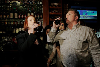 Former prime minister Julia Gillard popped into The Australian on her last night of a US tour in 2011 to have a drink with Matt Astill.