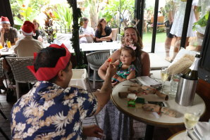 "Expats were among those who went to an ""orphans' Christmas"" lunch at The Winery in Surry Hills."