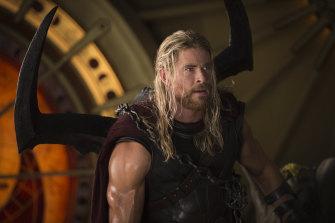 Chris Hemsworth in Marvel's Thor: Ragnarok.