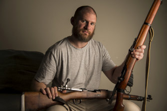 Andrew Tomic, 34, has a collection of firearms he sources from the upper north shore.
