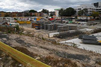 The Randwick campus construction site, the former site of Randwick's Eurimbla precinct.