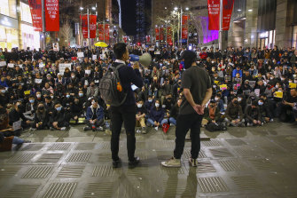 A pro-Hong Kong democracy rally in Sydney.
