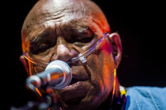 Archie Roach performs at the Sidney Myer Music Bowl in his last national tour called 'Tell Me Why'.