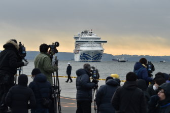 The 3000 passengers and crew of the Diamond Princess endured a two-week wait at Yokohama's port in February before being allowed to disembark.