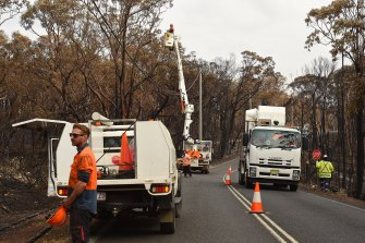 More than 1000 power poles were burnt in NSW in the fires so far this season.