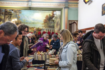 Clunes Booktown festival will be more low key than in previous years. This photo shows crowds at the 2018 event.
