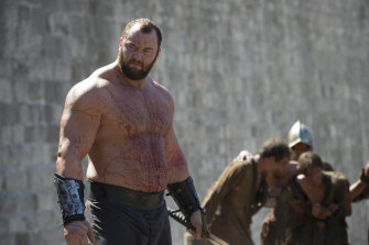 Hafthor Julius Bjornsson, known as The Mountain in Game of Thrones.