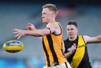 Hawthorn's win over Richmond was not as strong in the TV ratings as the Collingwood-Richmond clash.