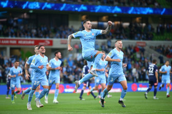 Jamie Maclaren was on top of his game for Melbourne City on Saturday night, scoring five goals in their thrashing of Melbourne Victory.