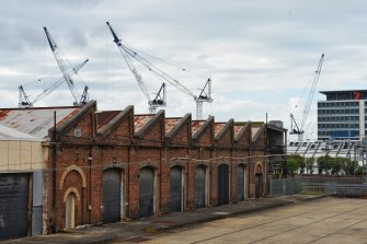 Buildings in the Carriageworks precinct in Eveleigh Rail Yards.