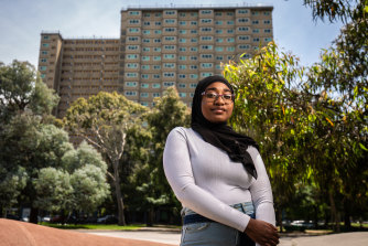 Haniyah Abou-Said says her VCE result is strong enough to get her into her dream course, a bachelor of fashion and textiles.