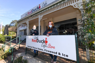 Little Red Duck Cafe manager Crystal Petschack and owner Rosie Duck in Noojee.