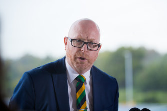 St Kevin's College's acting principal, John Crowley, terminated Simon Parris' employment.