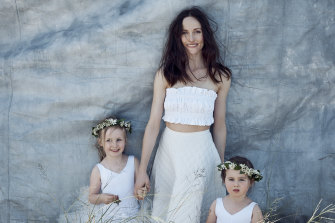 (Amber with Tilly and Maddie) Lee Mathews top and skirt.