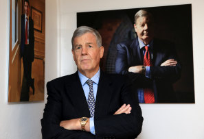 David Leckie at Machiavelli Restaurant, Sydney, back in 2014.