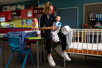 Jessica Libreri is studying to be a childcare worker at CathWest Innovation college.