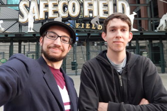 Ben and best friend John in Seattle in 2014, the last time they met in the same location.
