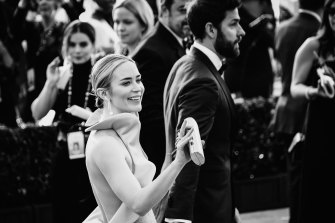 Emily Blunt and John Krasinski at the Screen Actors Guild Awards last year, where she won a gong for her role in A Quiet Place.