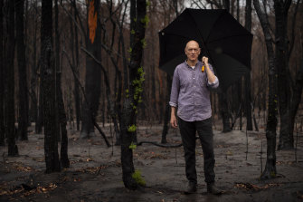 Peter Garrett in bushland near his property in Kangaroo Valley on Friday.