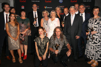 Cast and crew for Lambs of God clean up at the AACTA Awards.