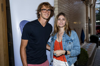 Alexander Zverev and Olya Sharypova in Hamburg last year.