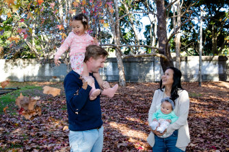 Hugh and Hanako Stump's youngest daughter, now six months, was born with CMV infection and profound hearing loss.