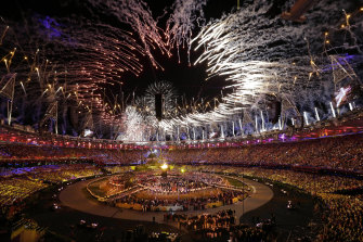 The Olympic cauldron is lit during the opening ceremony at the 2012 Summer Olympics. Dozens of athletes from several countries went missing during the London Games.