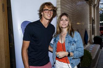 Alexander Zverev and Olya Sharypova in Hamburg last year.