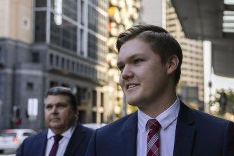 Jack Warren leaves court on Thursday.