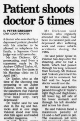 An <i>Age</i> report on the shooting of Andrew Taylor from April 1999.