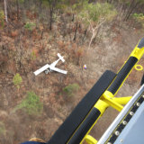 A rescue helicopter was called to the remote bushland on Tuesday morning.