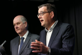 Premier Daniel Andrews and planning minister Richard Wynne.